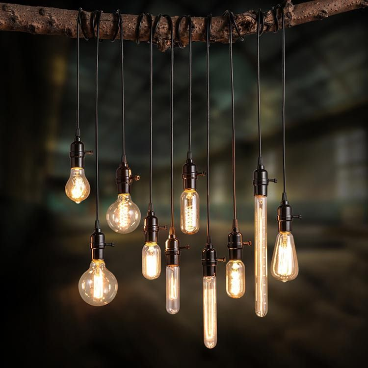 Vintage Edison Bulb Pendant Lamp Chandeliers Ceiling Single Lighting For Dining Room
