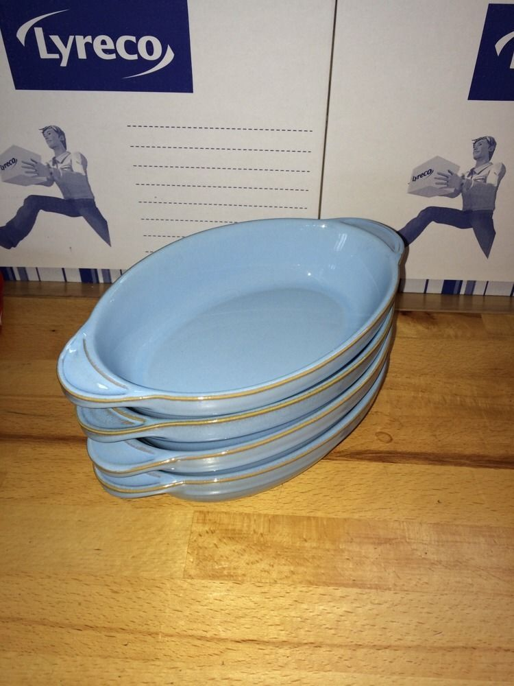 1 X Denby Colonial Blue Small Oval Serving / Gratin Dish 8.75\