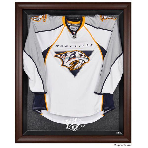 5c16525b6 Nashville Predators Fanatics Authentic Brown Framed Logo Jersey Display Case