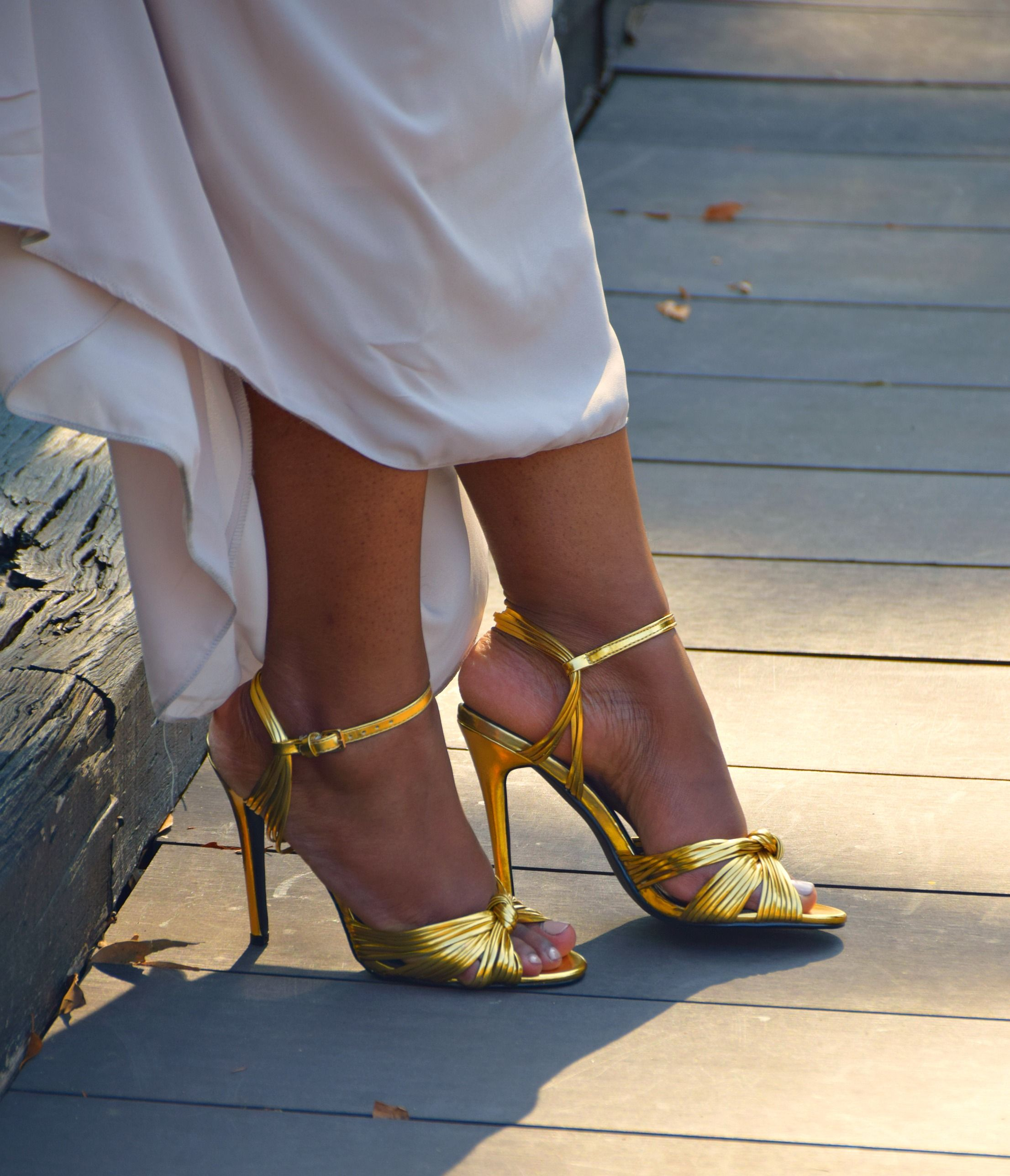 69e24cf1c29 Public Desire Angel Knot Rose Gold Heeled Sandals