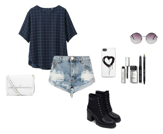 """Sem título #268"" by camilamontezani ❤ liked on Polyvore featuring Uniqlo, One Teaspoon, Monki, Zara, Bobbi Brown Cosmetics, Zero Gravity and Tory Burch"