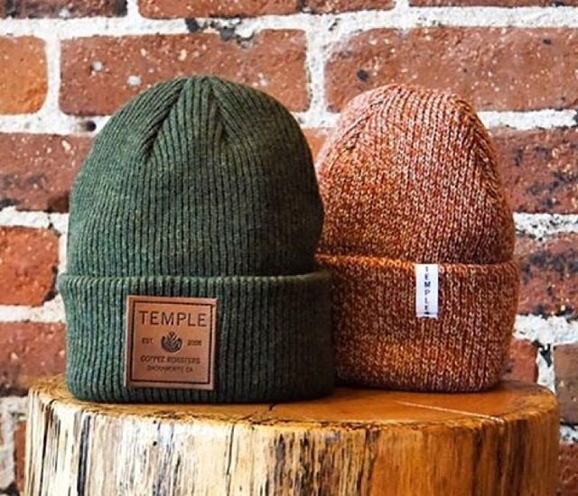 398ea26ad30 New beanie developments for Temple Coffee ( templecoffee) - colorways  featured are the Green Merino Wool with Debossed Leather Patch with  contrasting ink.
