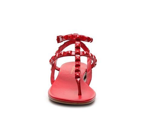 c40b4776851 BCBGeneration Glorina Patent Flat Sandal