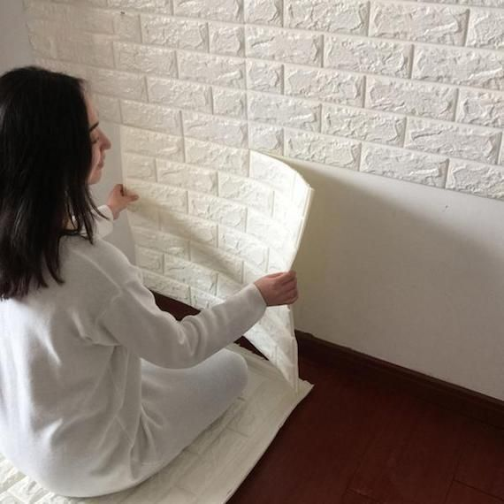 D SelfAdhesive Wall Stickers Brick Patterns Stay Safe And - Instructions on how to put up a wall sticker