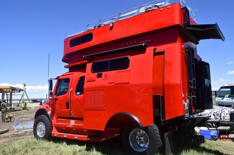 In pictures rubber metal and mud at overland expo west