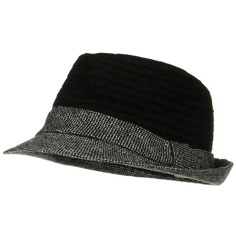 Braided Two Tone Fedora - Black - Hats and Caps Online Shop - Hip Head Gear e6a6c2ae2f8