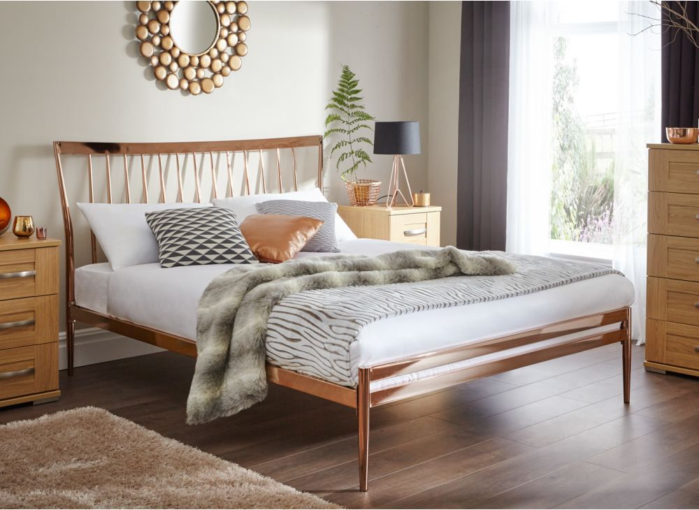 introducing our first ever copper plated bed the blake is on trend and set to