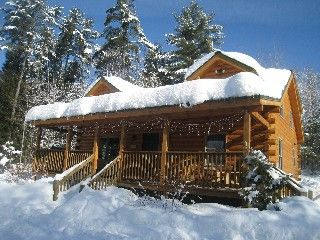 Cozy Log Cabin in the White Mountains on ATV/Snowmobile