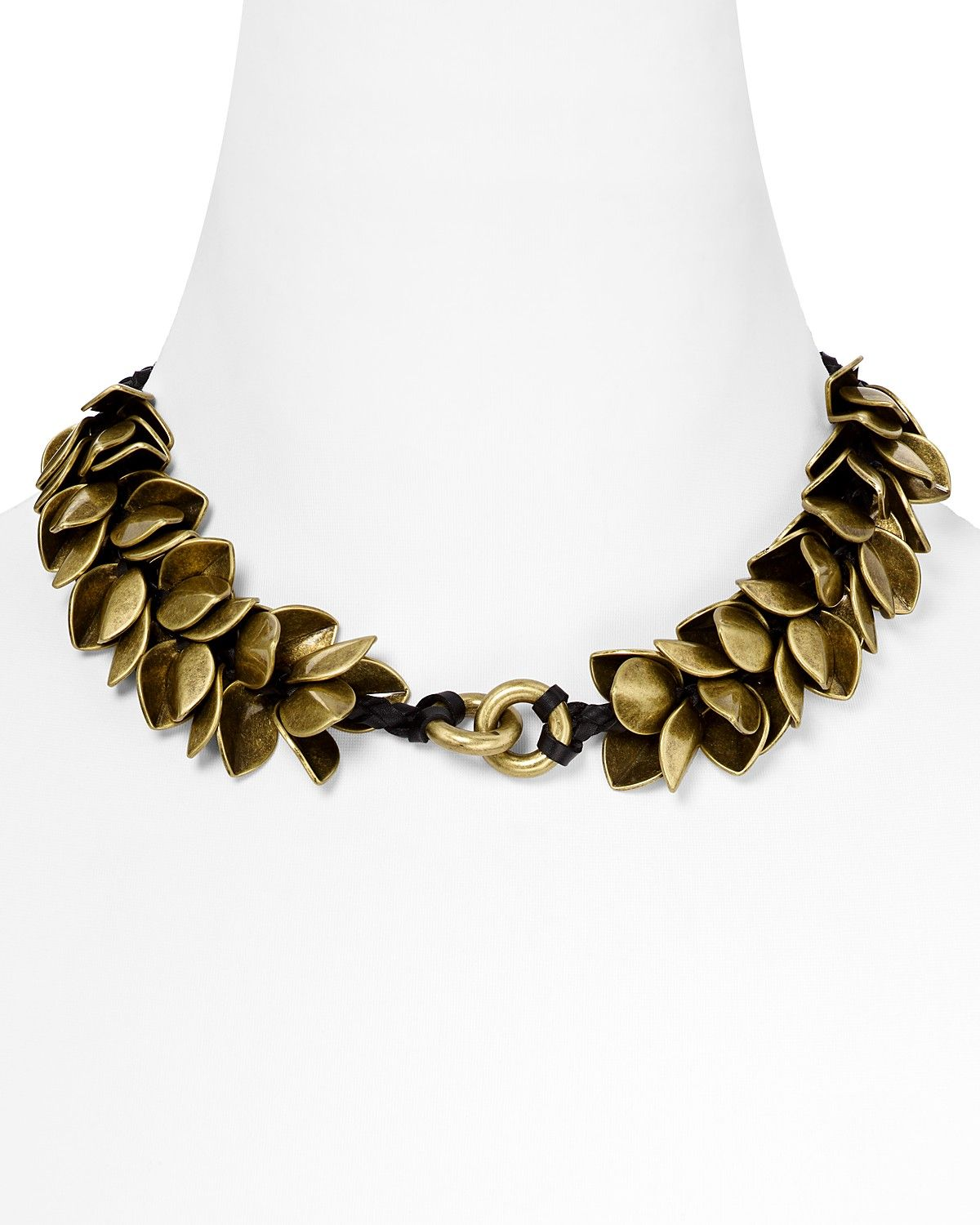 Giles & Brother Wheat Petal Choker - Love that the brass petals are ...