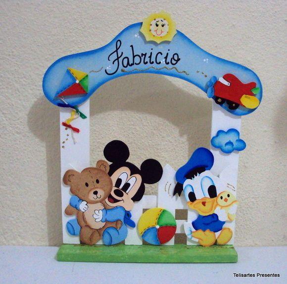 Quadro Maternidade Baby Mickey E Donald
