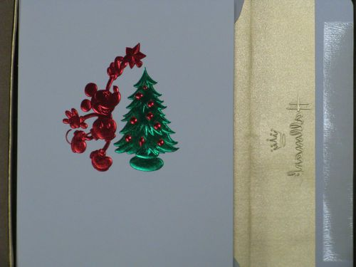 Hallmark Boxed Christmas Cards Disney Mickey Mouse W Foil Lined