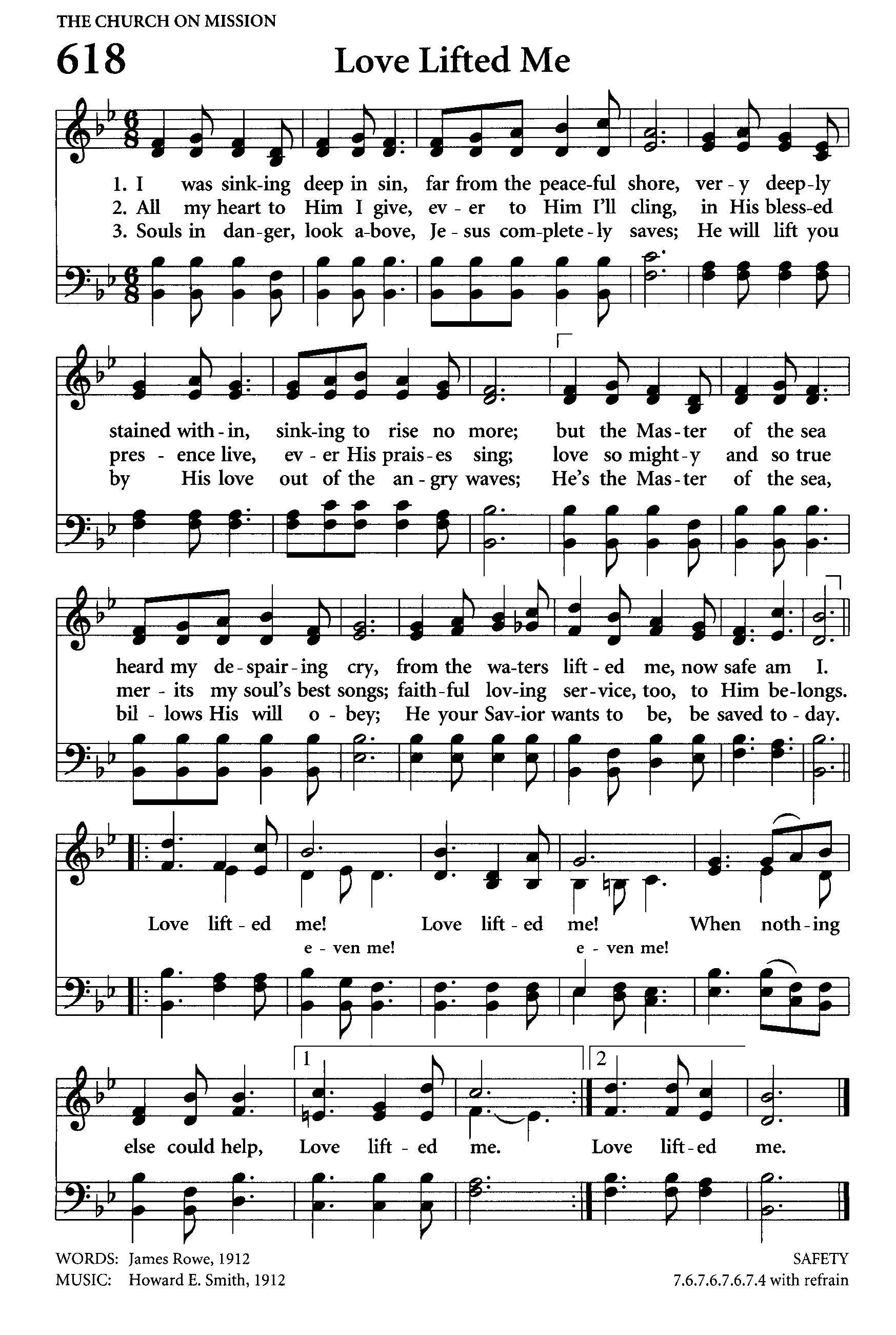 Love Lifted Me. high (1747×2602) Christian Songs, Christian Life,