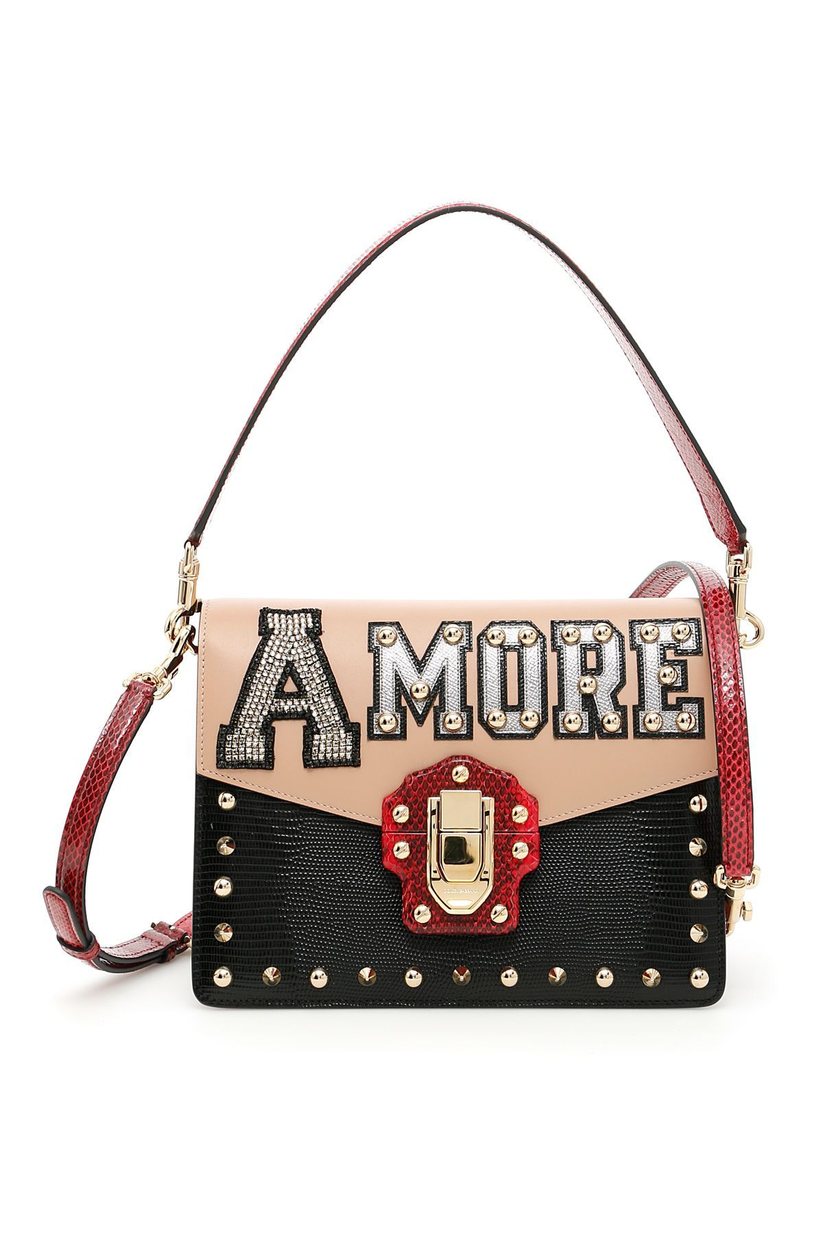 DOLCE   GABBANA .  dolcegabbana  bags  shoulder bags  hand bags  lining   leather  crystal   74f016c76d