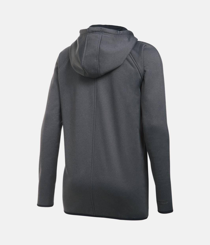 Women's UA Storm Armour® Fleece Long Full Zip, Carbon Heather, zoomed image