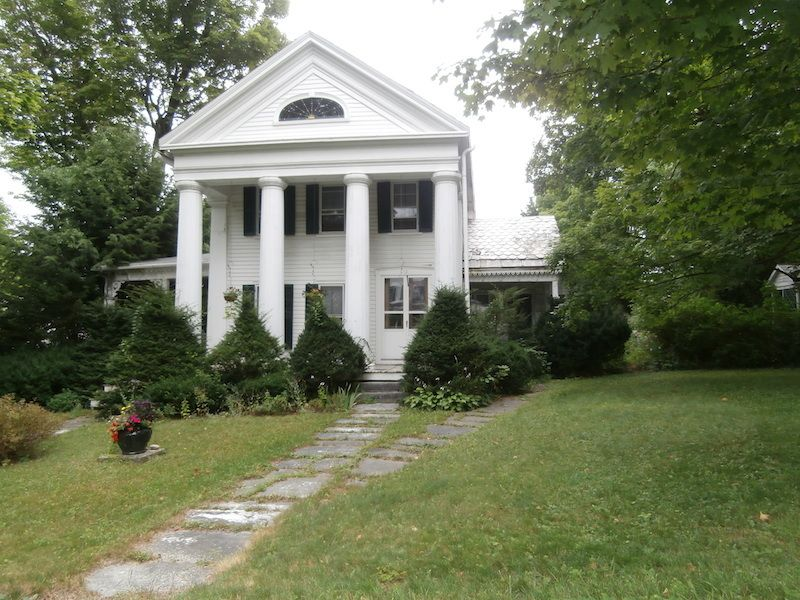 Shirley Jackson's house, the Greek Revival on Prospect Street in North Bennington