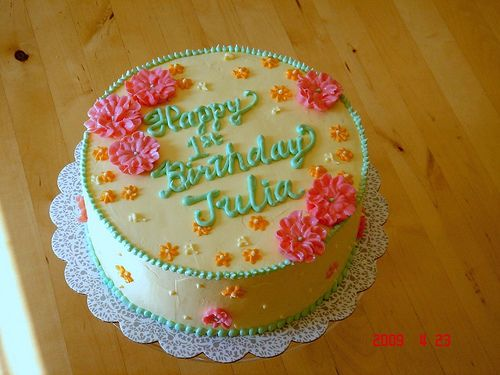 Birthday cake for 1 year old girl Birthday cakes Birthdays and Cake
