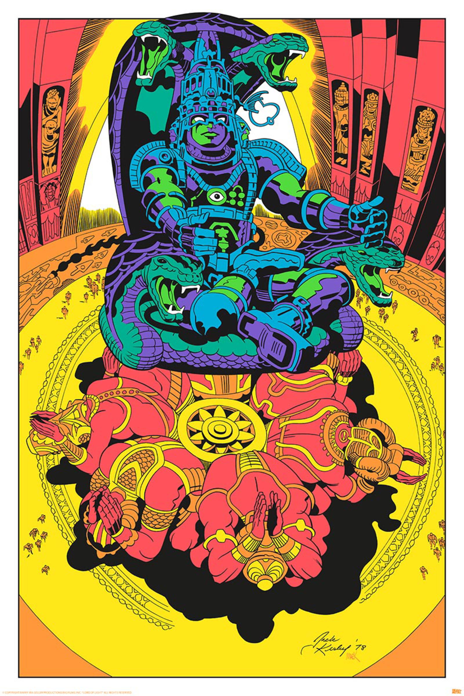 Behold The Psychedelic Glory Of Jack Kirby's Argo Art, In Color At Last ross marvel frost four ramo