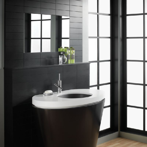 Comtempra Bath Bathroom Design Round Mirror Bathroom Glass Basin