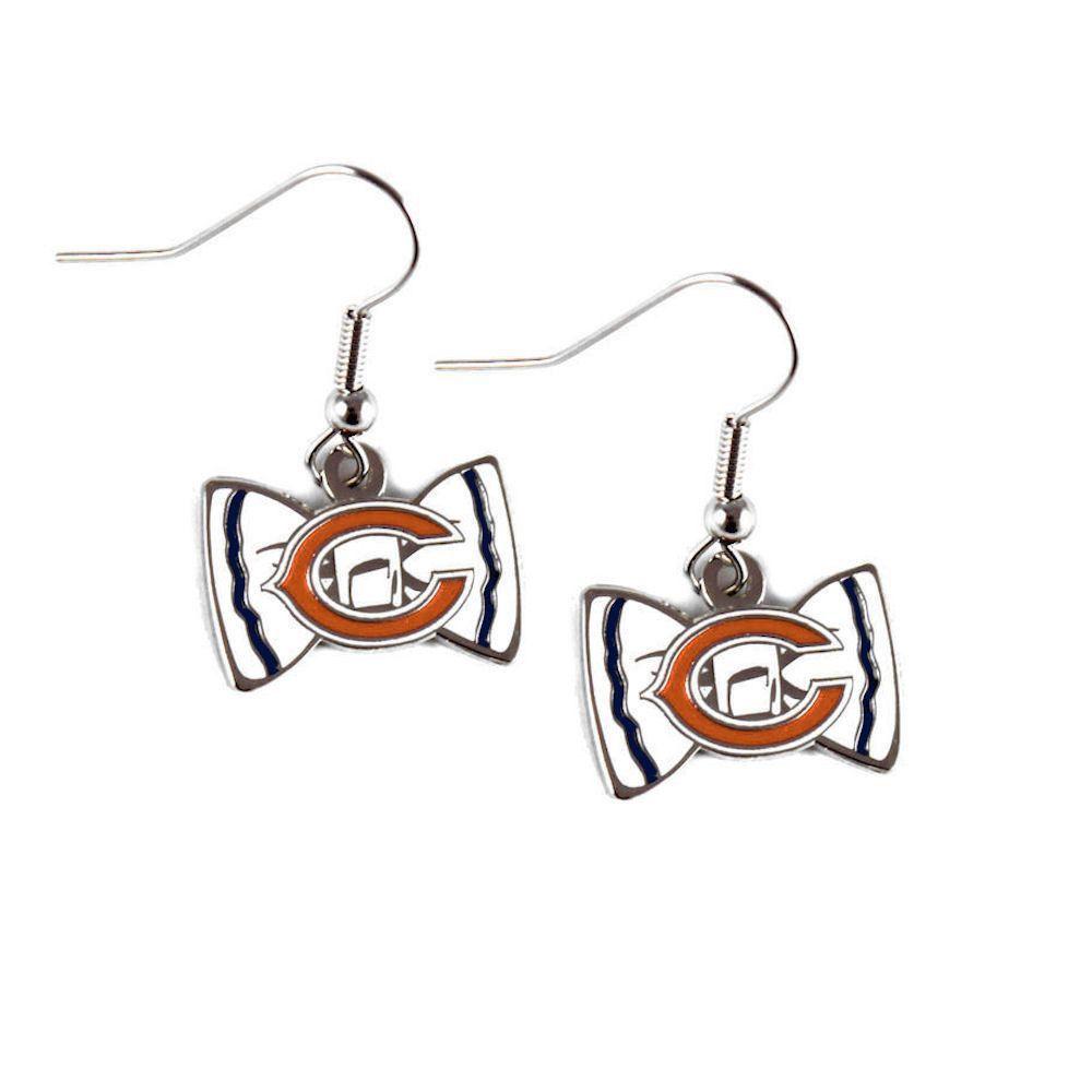 Chicago Bears Bow-Tie Dangle Earrings