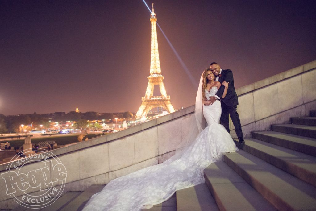 673259f3cbd Adrienne Bailon Is Married — See the Photo from the Stunning Paris Wedding