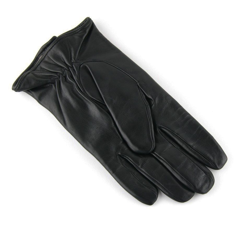 Black leather gloves lined with cashmere - Men S Leather Gloves Cashmere Lined Leather Gloves Black And Tobacco Gloves With Zip Detail