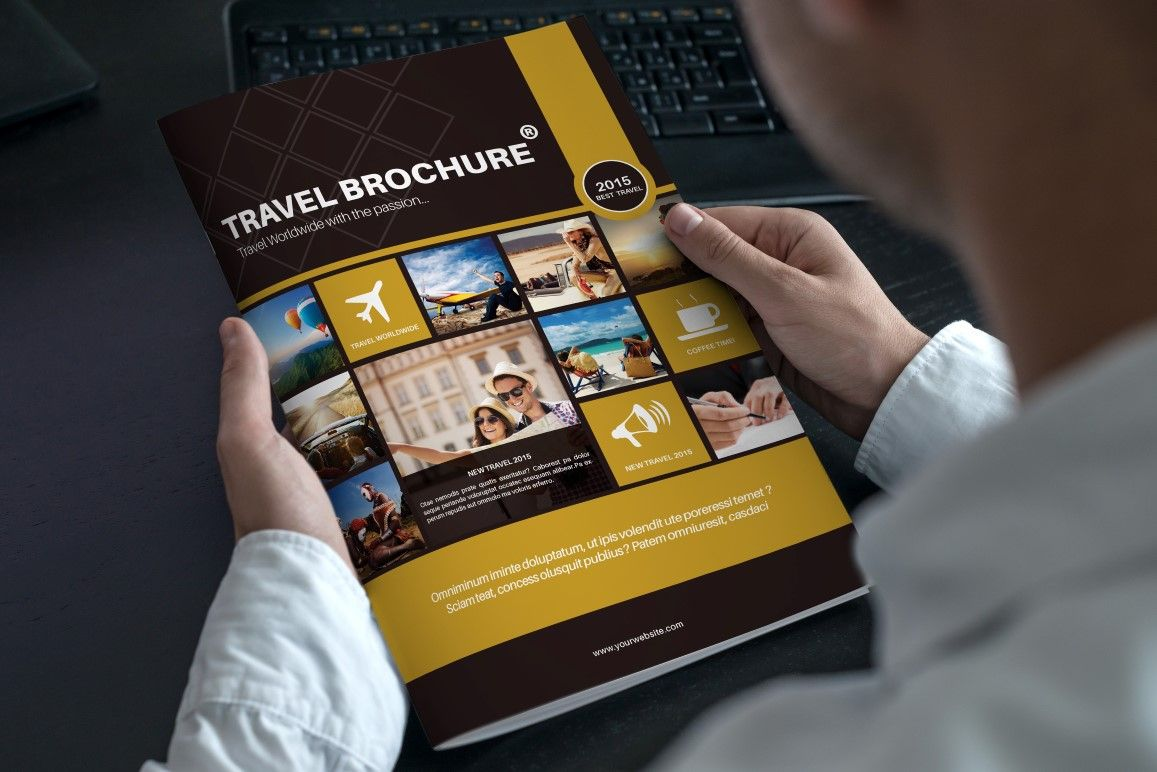Travel Bi Fold Brochure By Riverpixels Studio On Creative Market
