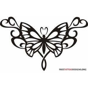 Tatouage Tribal Bas Du Dos Motif Papillon Ideas For The House