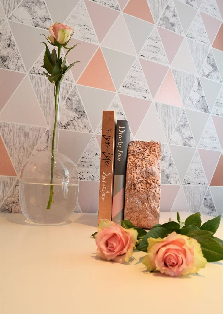 Pink Roses Single Stem Vase Marble Book Rose Gold Marble
