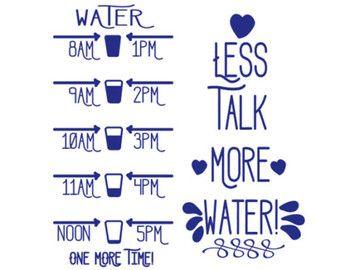 Water Bottle Motivation Cut File Svg Eps Dxf Png