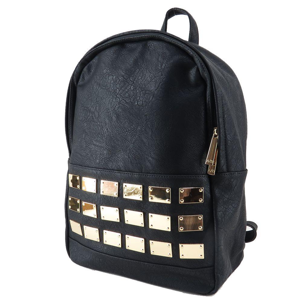 02dfaf20978b7 Mochila feminina de couro ecológico, mochila preta. Para carregar notebook,  cadernos, roupas