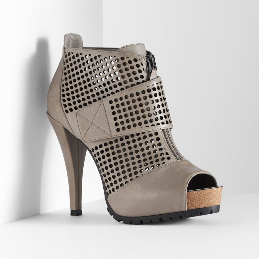 Cutout Peep-Toe Platform Dress Heels
