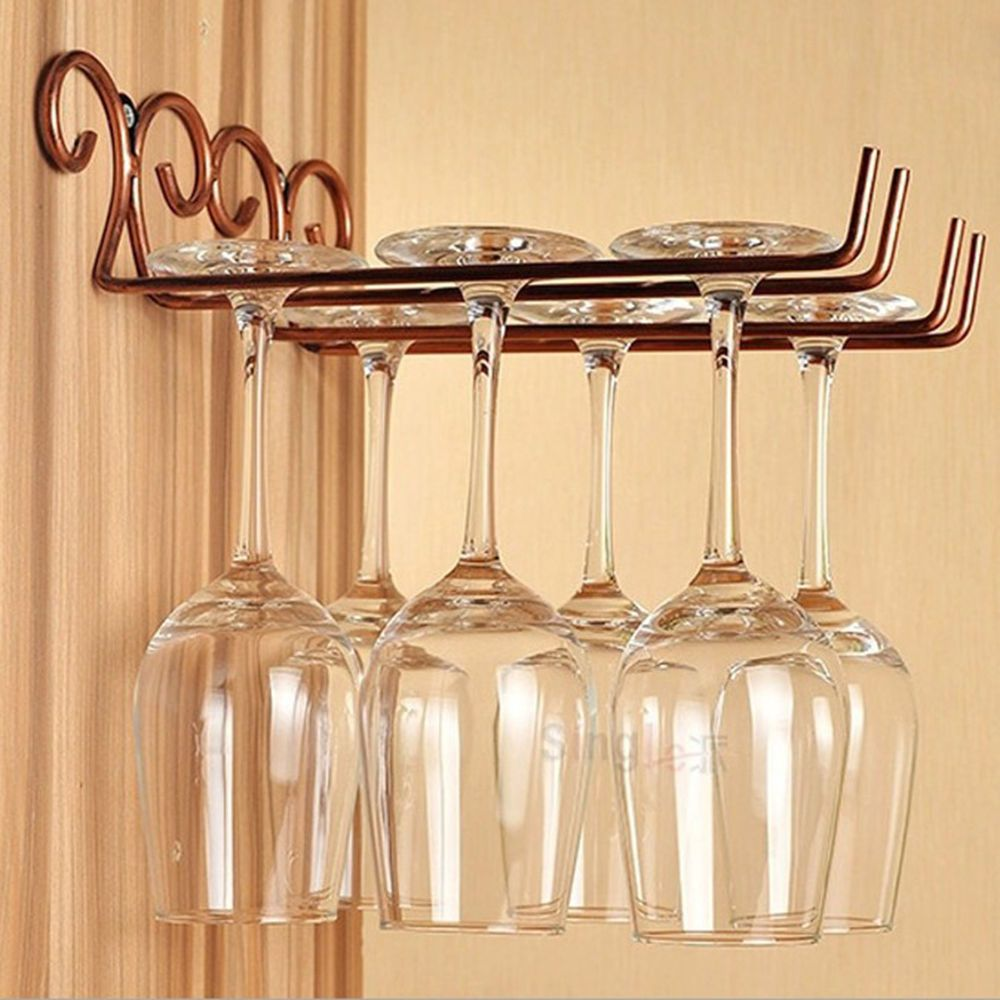 Metal Bottle Wine Holder Ornament Decor Red Wine Champagne Glass ...