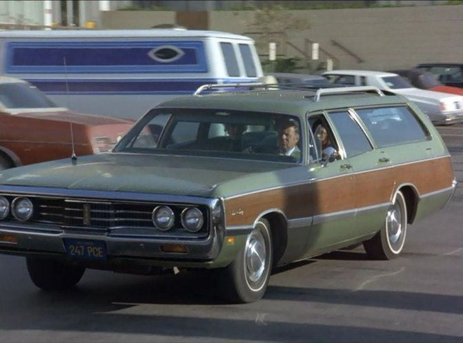 1969 Chrysler Town Country Station Wagon From A Movie Scene