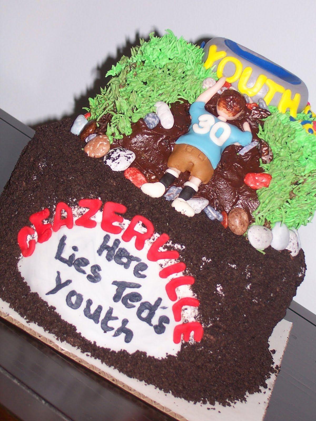 Humorous 30th Birthday Cake 30th Birthday Cake Idea For