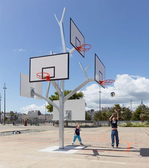 Treeshaped basketball net