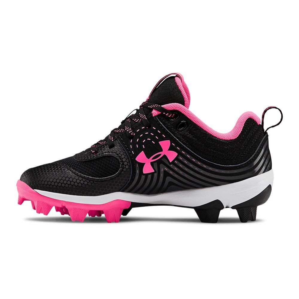 Under Armour Girls Glyde Rm Jr Black 13k Softball Shoes