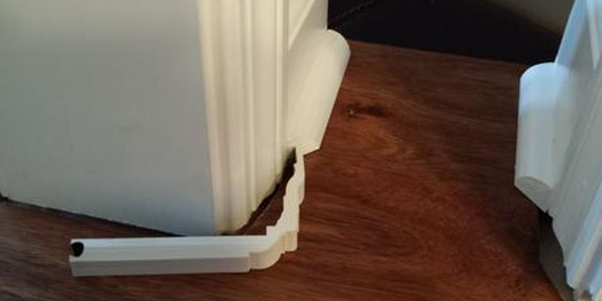 Casing kickers easy installation low cost laminate