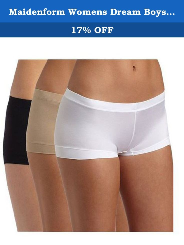 13fb6dcc5aa Maidenform Womens Dream Boyshort Panty. These microfiber panties are so  silky soft, you might think you are in a dream. Features a stretch fit that  moves ...