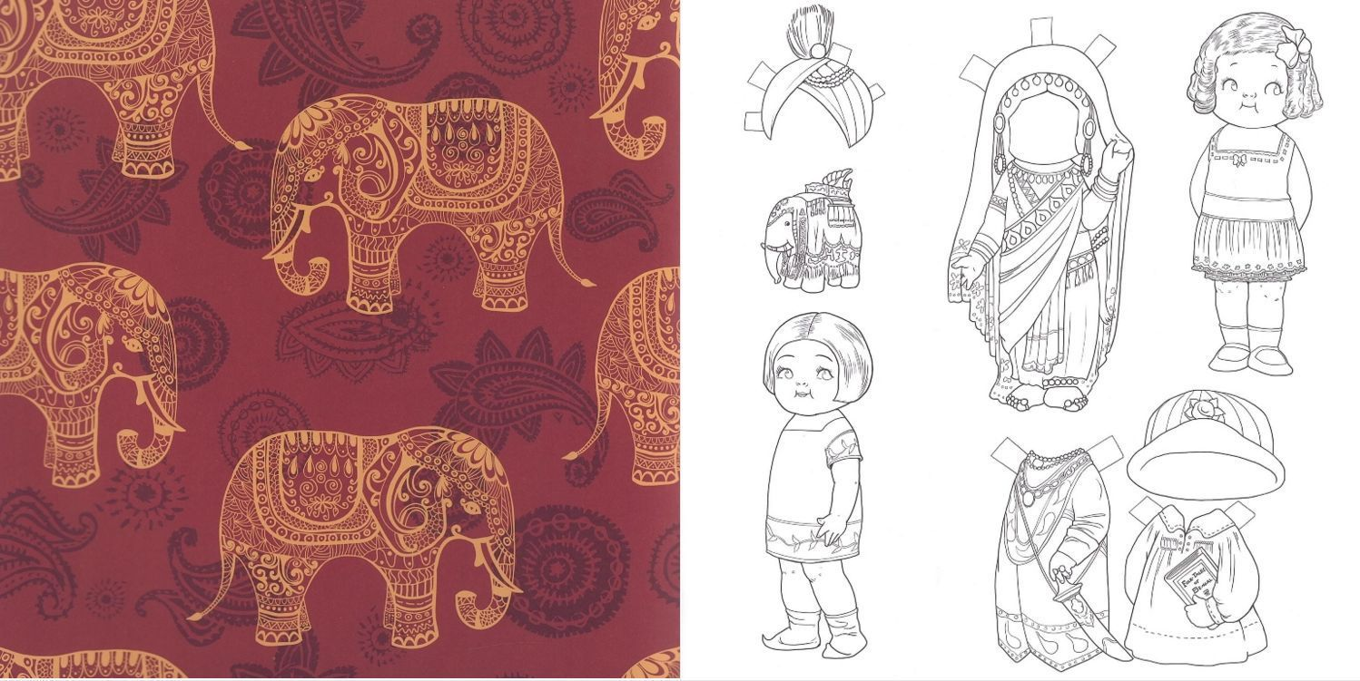 Details About Dingle Dolly Coloring Book Adult Relaxation Paper Doll Cutout Anti Stress Art