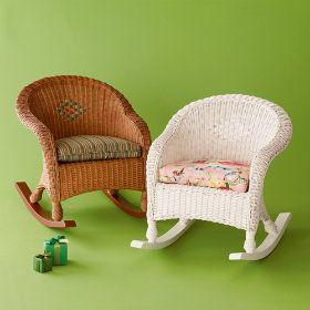 Merveilleux Kids Wicker Rocking Chairs   Stylehive