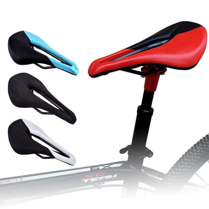 Carbon Cycling Bike Seat PU Leather Cover Bike Saddle Bicycle Soft Cushion