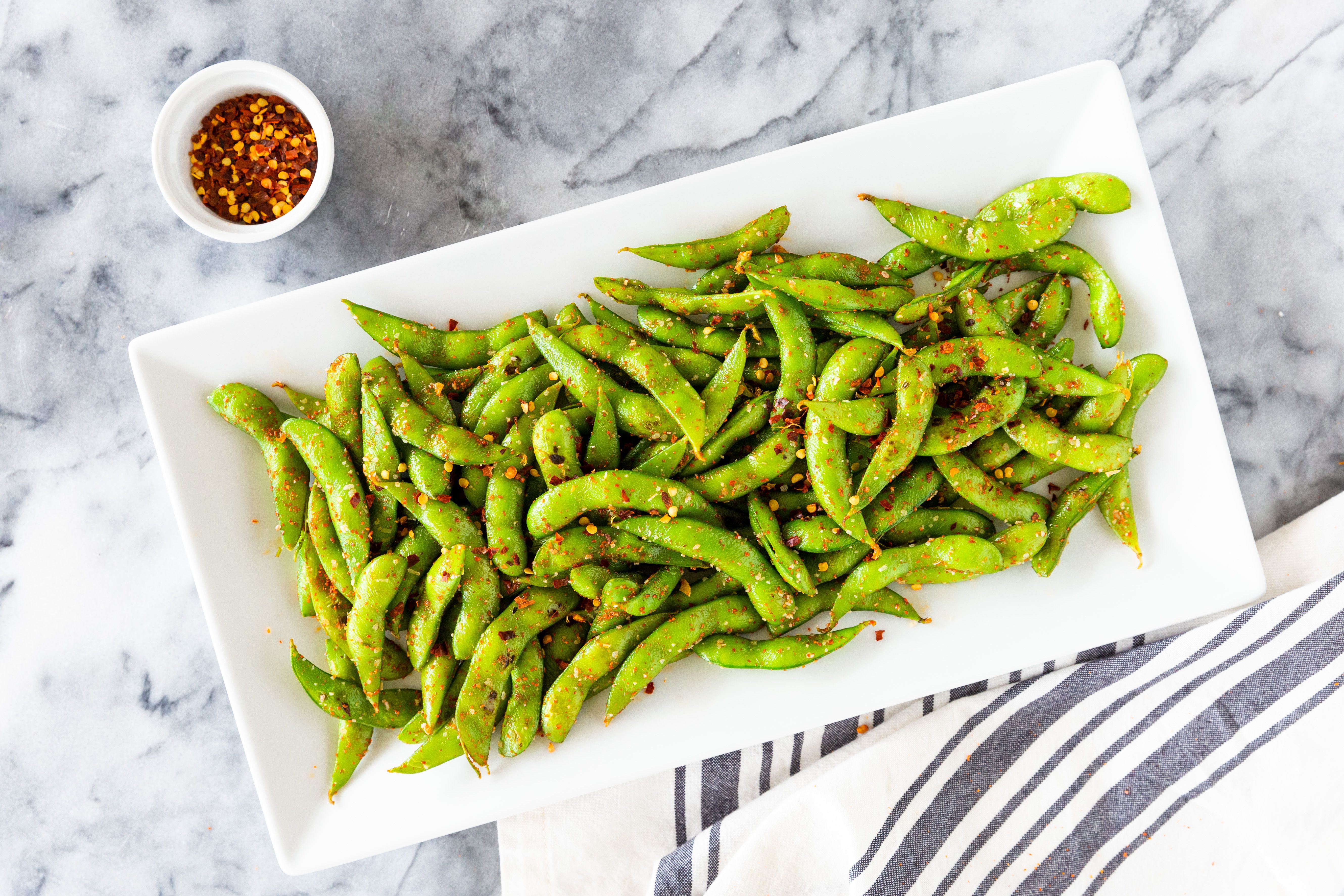 Spicy Edamame Soy Beans Recipe Appetizers Healthy