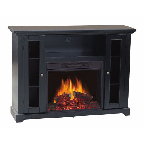 Flametec 750w 1500w Electric Fireplace Heater Csa Csaus Tv Stand Electric Fireplace Heater