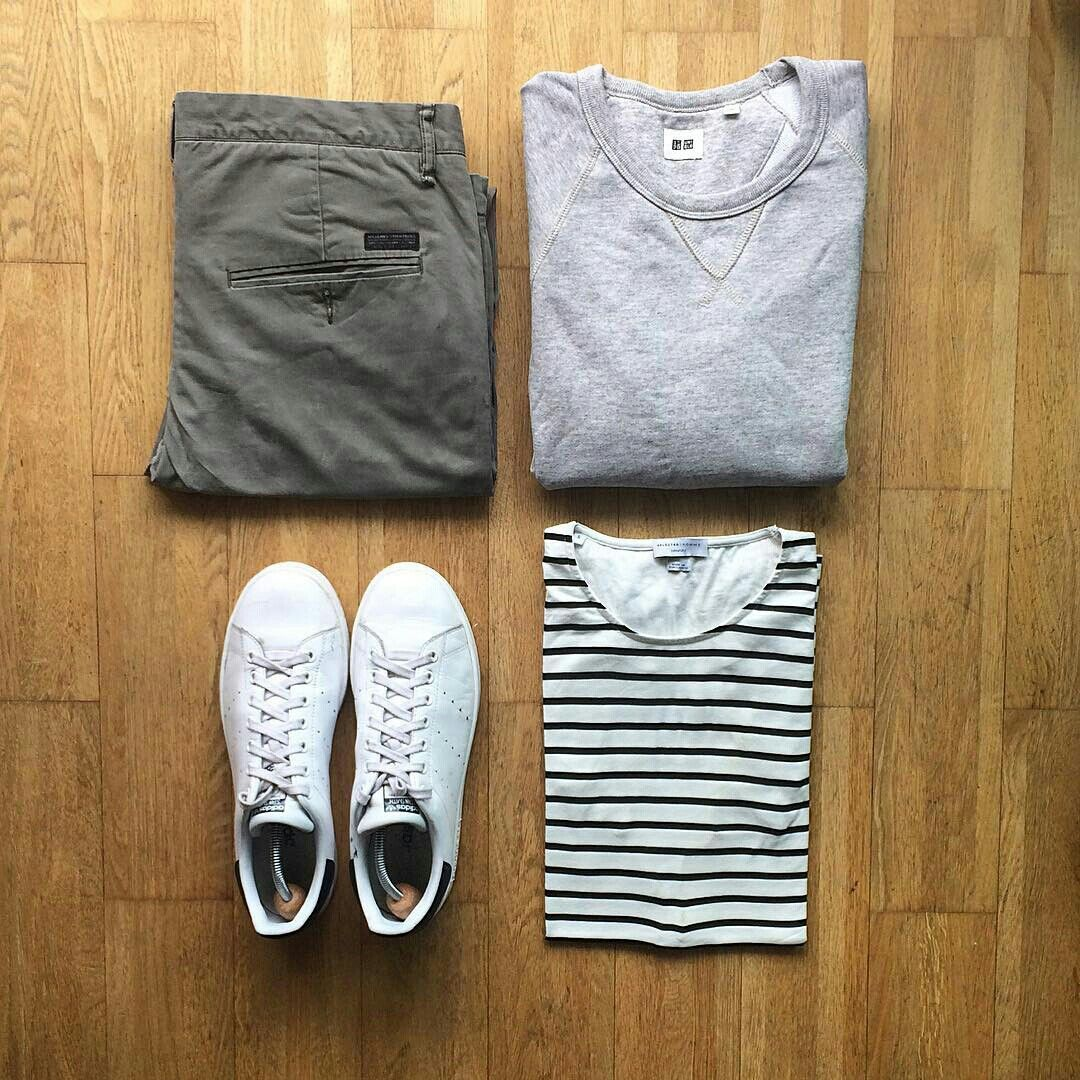 casual outfit stripes