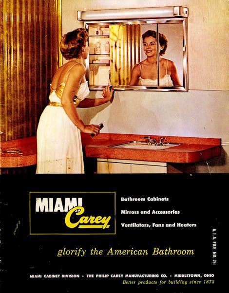 Bathroom Cabinets Miami 42 vintage medicine cabinets from miami-carey circa 1955