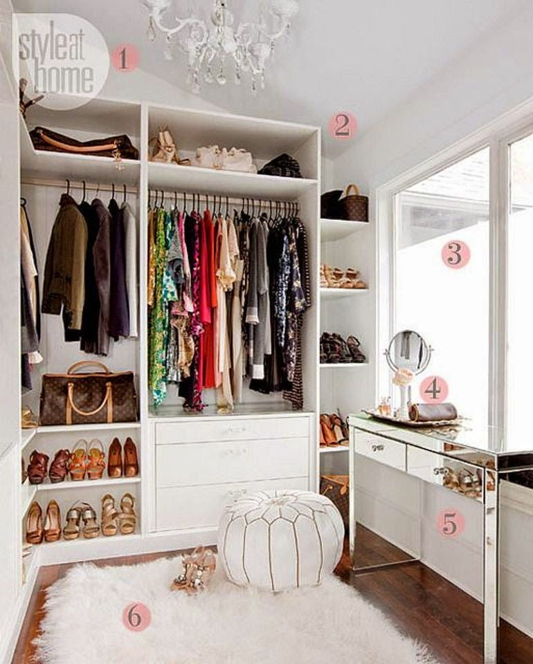 C mo organizar y decorar tu vestidor white closet for Como decorar tu casa