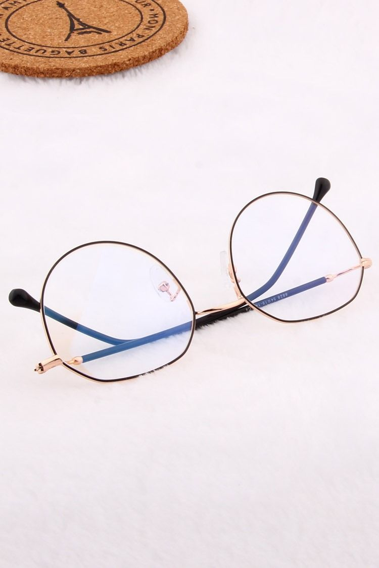 8828 Black And Gold Metal Glasses Vision Glasses Eyeglasses