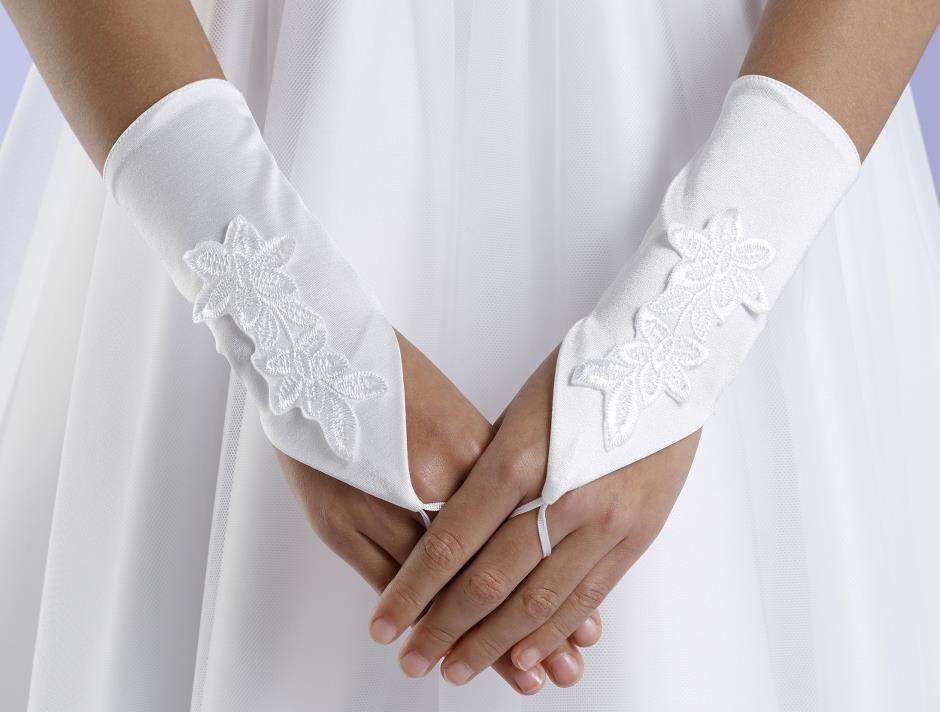 Fingerlose Handschuhe mit Spitzenaktenten