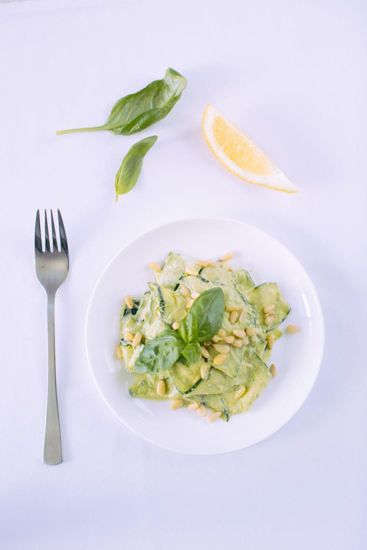 Raw Zucchini Pesto Pasta - Nourish & Inspire Me