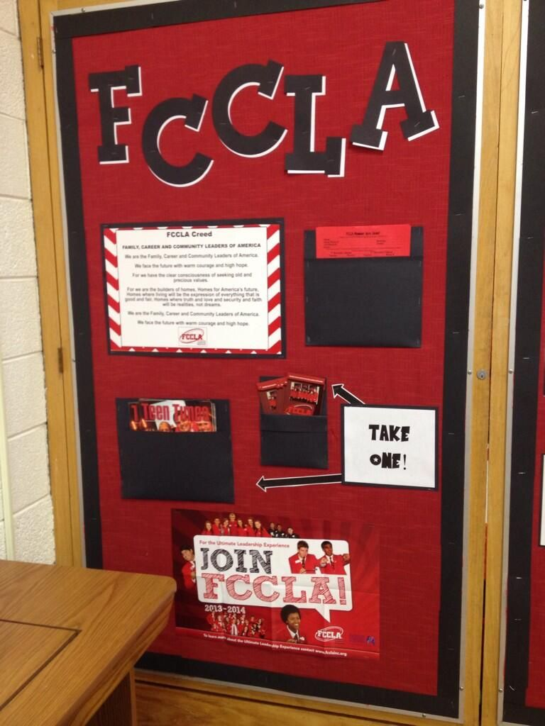 How cool is this fccla bulletin board join fccla